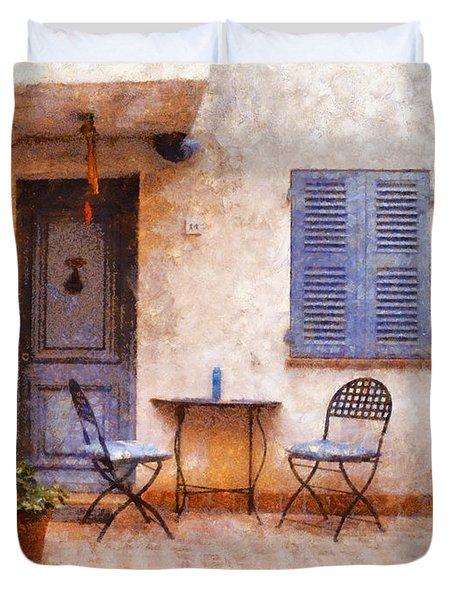 Mediterranean House Duvet Cover by Pixel  Chimp