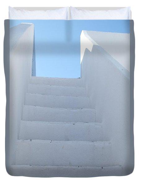 Mediterranean Staircase Duvet Cover
