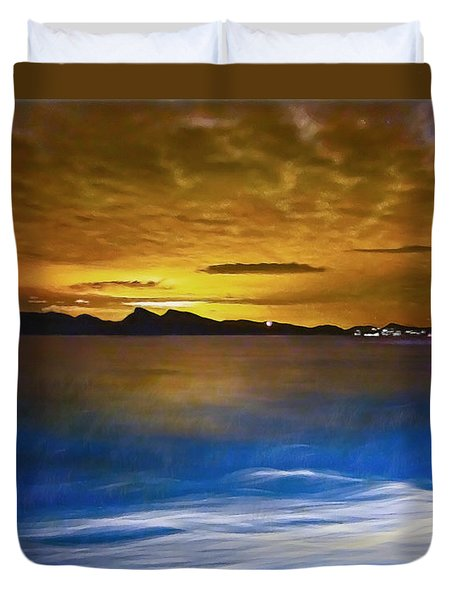 Mediterranean Sunrise Duvet Cover by Hanny Heim