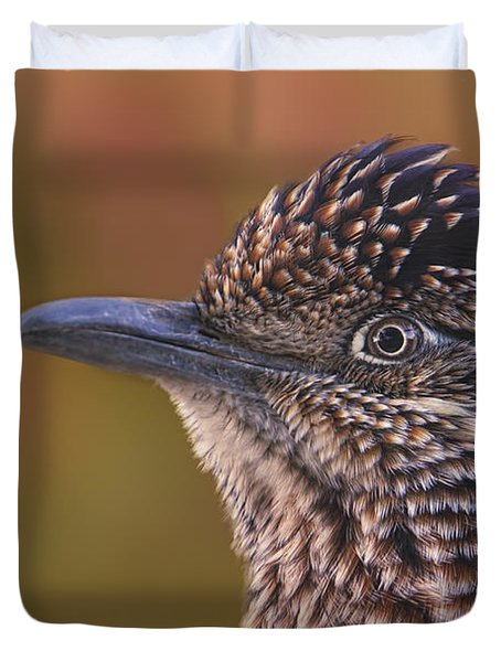 Duvet Cover featuring the photograph Meep Meep  by Brian Cross