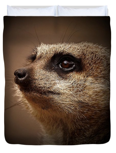 Meerkat 6 Duvet Cover by Ernie Echols