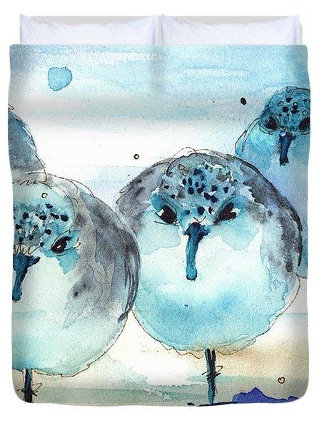 Meet The Sanderlings Duvet Cover