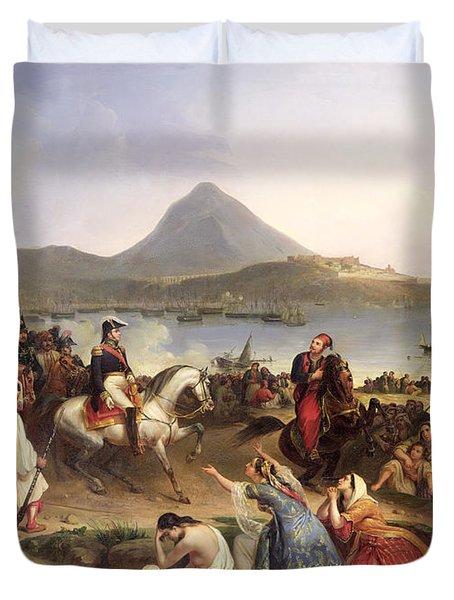 Meeting Between General Nicolas Joseph Maison 1771-1840 And Ibrahim Pasha 1789-1848 At Navarino Duvet Cover
