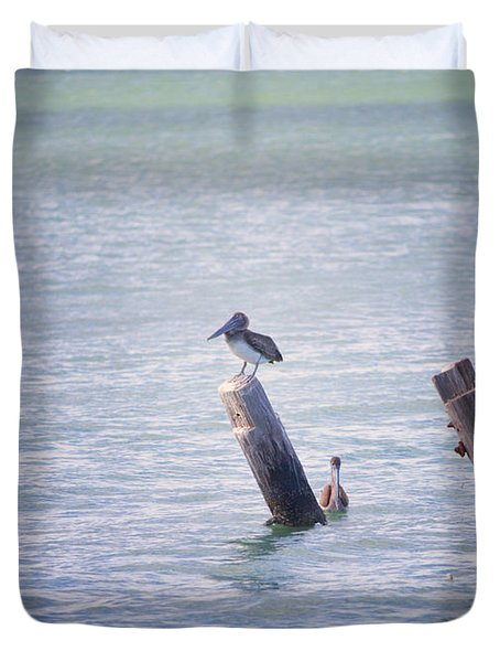 Duvet Cover featuring the photograph Meeting Place by Erika Weber