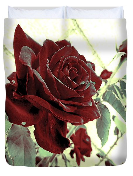 Melancholy Rose Duvet Cover