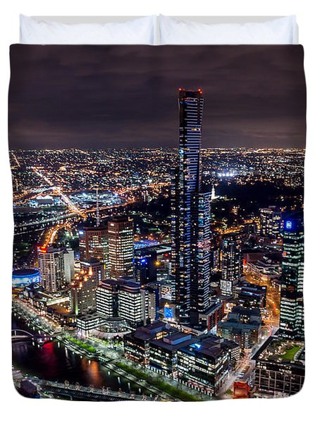 Melbourne At Night IIi Duvet Cover