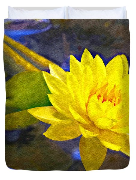 Mellow Yellow Duvet Cover by Ken Frischkorn