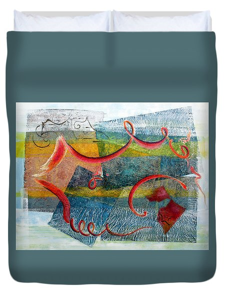 Melody In My Mind Duvet Cover by Asha Carolyn Young