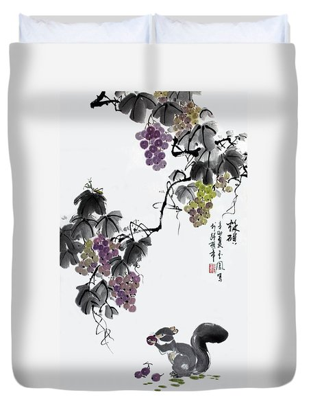 Melody Of Life II Duvet Cover by Yufeng Wang