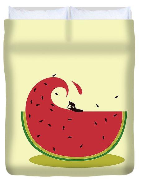 Melon Splash Duvet Cover