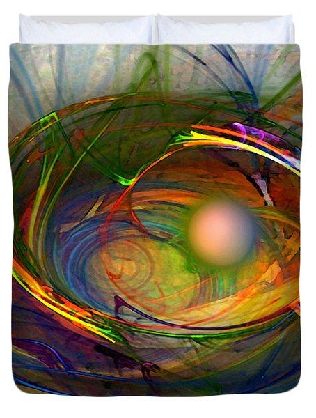 Melting Pot-abstract Art Duvet Cover
