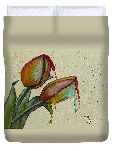 Melting Tulips Duvet Cover