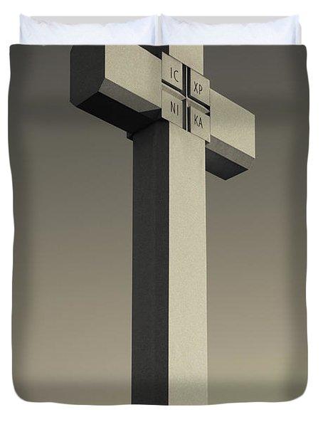 Memorial Cross To Spanish Father Juan Duvet Cover