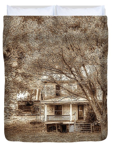 Memories Behind The Trees Duvet Cover by Dan Friend