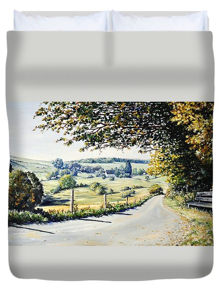 Duvet Cover featuring the painting Memories by Heidi Kriel