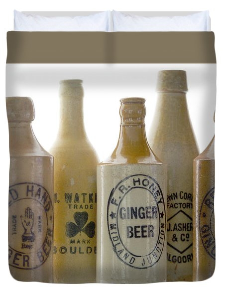 Duvet Cover featuring the photograph Memories In A Bottle by Holly Kempe