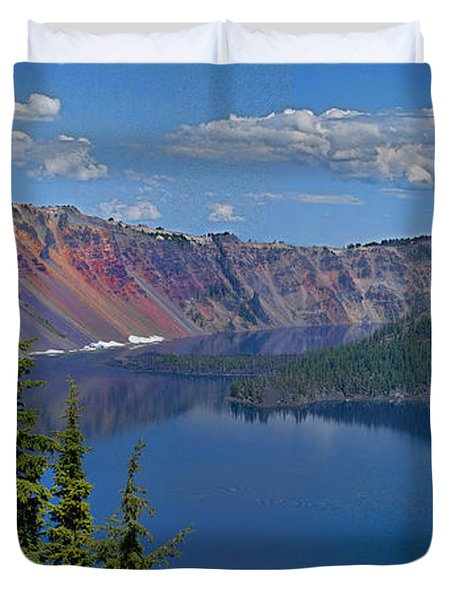 Memories Of Crater Lake Duvet Cover