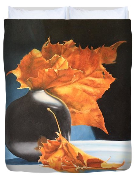 Memories Of Fall - Oil Painting Duvet Cover