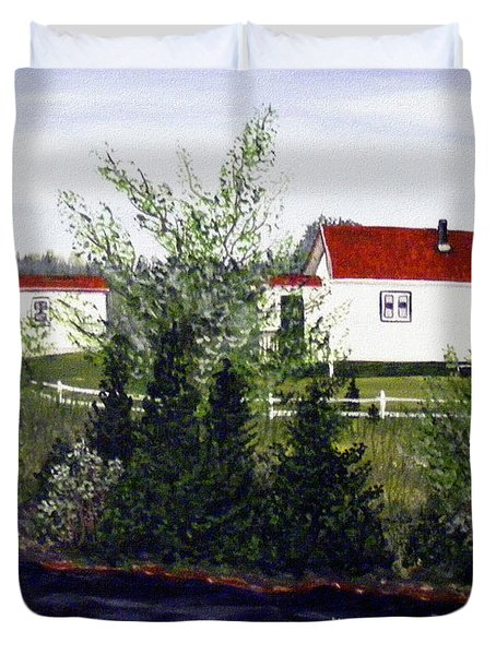 Memories Of Home  Duvet Cover by Barbara Griffin