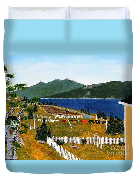 Memories Of Monday Duvet Cover by Barbara Griffin