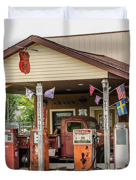 Memories Of Route 66 Duvet Cover