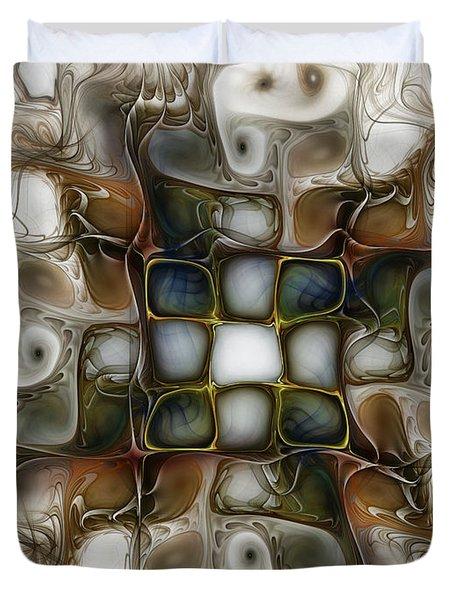 Memory Boxes-fractal Art Duvet Cover