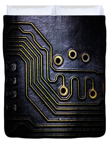 Memory Chip Number Two Duvet Cover by Bob Orsillo