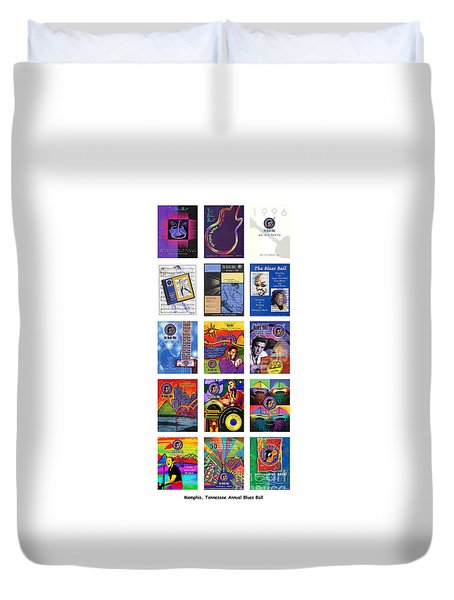 Posters Of Music Duvet Cover by David Bearden