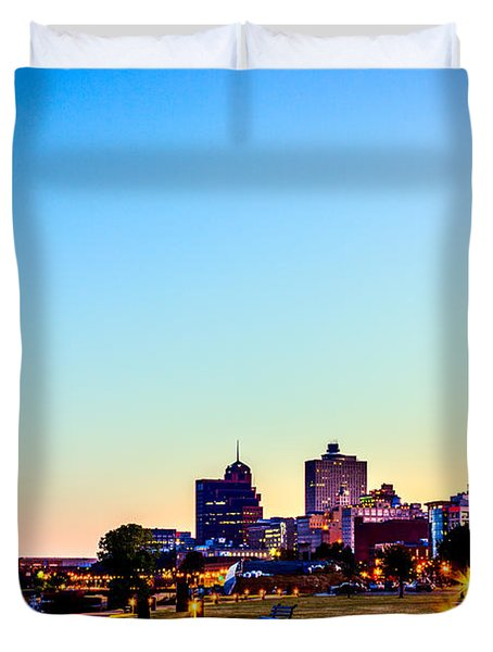 Memphis Morning - Bluff City - Tennessee Duvet Cover