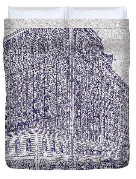 Memphis Peabody Hotel Blueprint Duvet Cover