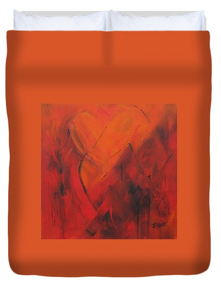 Mending Hearts Duvet Cover
