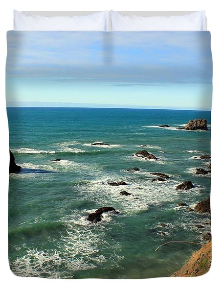 Mendocino Rocks Duvet Cover