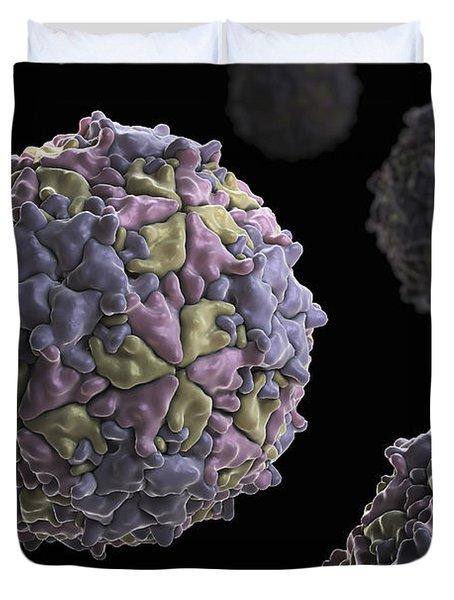 Mengo Encephalomyelitis Virus Duvet Cover