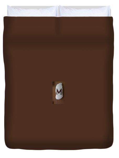 Menominee Maroons Duvet Cover