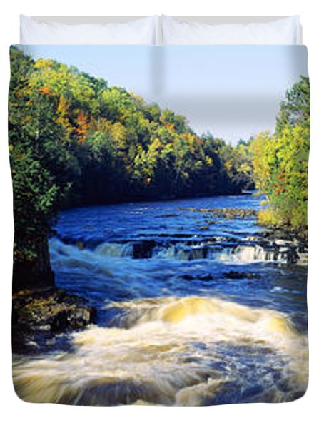 Menominee River At Piers Gorge, Upper Duvet Cover