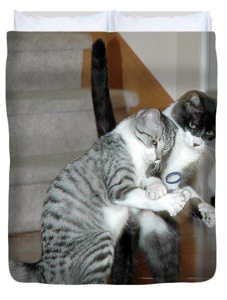 Meow Vows Duvet Cover