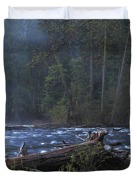 Merced River Duvet Cover by Duncan Selby