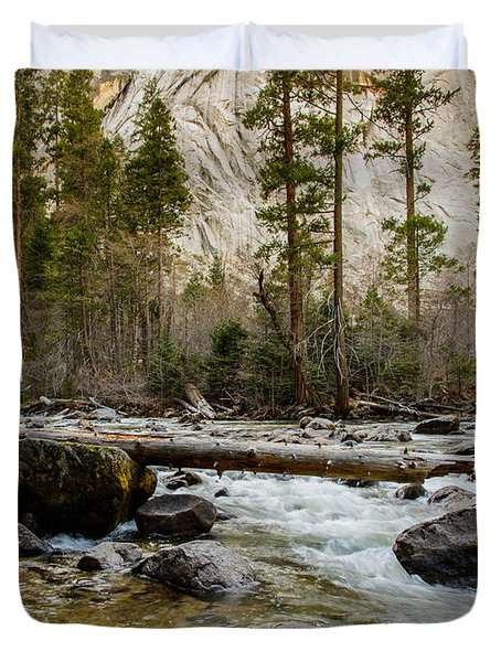 Merced River From Happy Isles 2 Duvet Cover