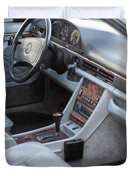 Mercedes 560 Sec Interior Duvet Cover by Gunter Nezhoda