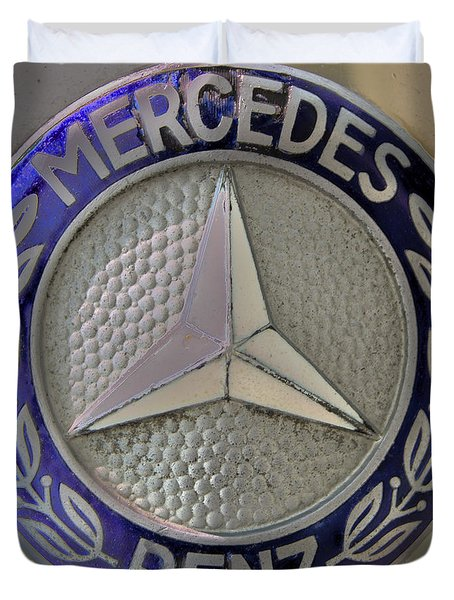 Mercedes Benz Badge Blue Duvet Cover