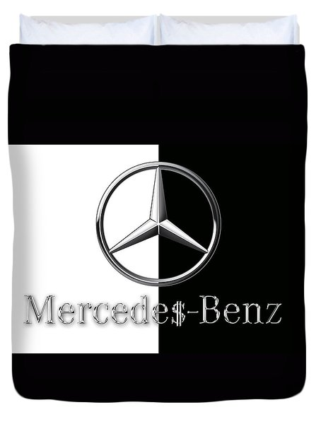 Mercedes-benz Logo Duvet Cover