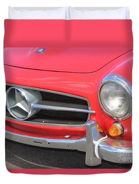 Duvet Cover featuring the photograph Mercedes Benz Vintage by The Art of Alice Terrill