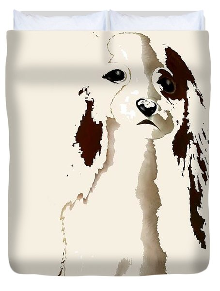 Mercedes  - Our Cavalier King Charles Spaniel  No. 9 Duvet Cover