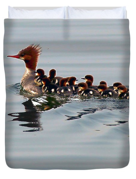 Punk Duck And Posse Duvet Cover
