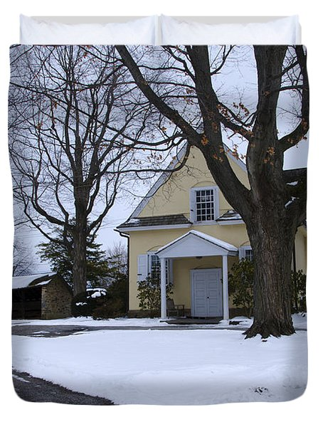Merion Meeting House - Narberth Pa Duvet Cover by Bill Cannon