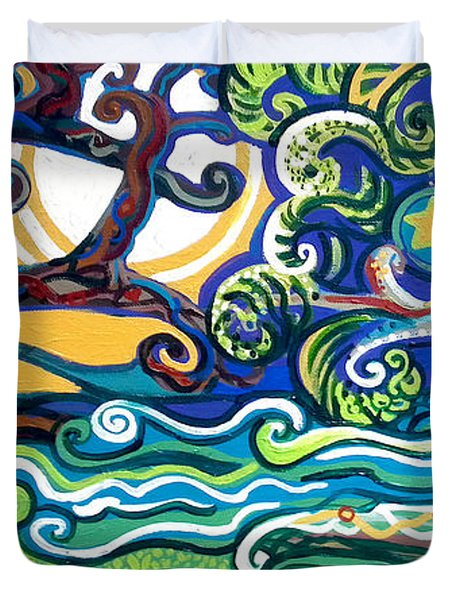 Merlin Tree Heart-hur Duvet Cover by Genevieve Esson