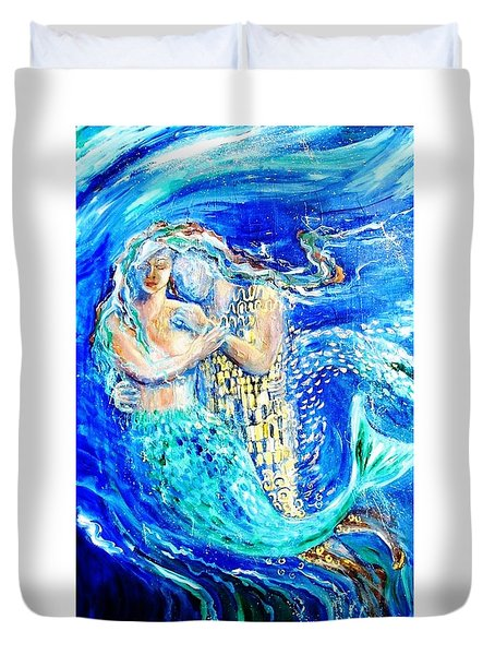 Mermaid Dreamer  Duvet Cover by Trudi Doyle