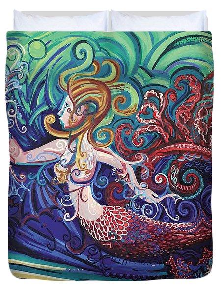 Mermaid Gargoyle Duvet Cover