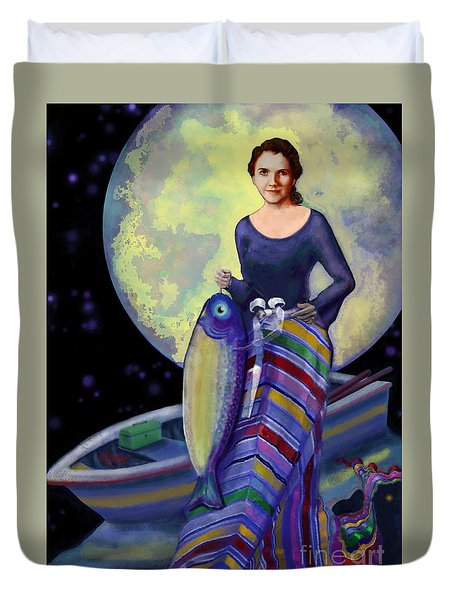 Mermaid Mother Duvet Cover by Carol Jacobs
