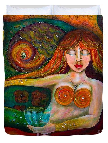 Mermaid Musing Duvet Cover
